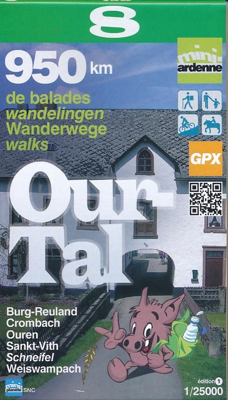 MA-08 Omgeving Ourtal 1:25.000 9782390160076  Mini-Ardenne   Wandelkaarten Wallonië (Ardennen)