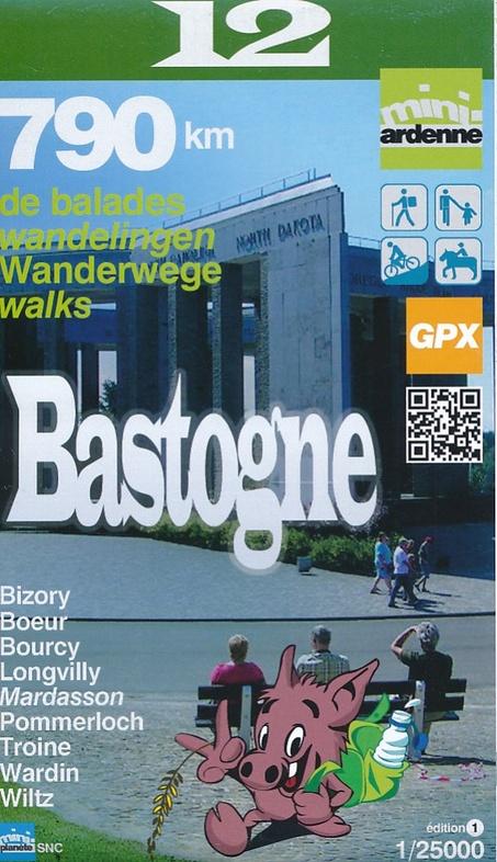 MA-12 Omgeving Bastogne 1:25.000 9782390160113  Mini-Ardenne   Wandelkaarten Wallonië (Ardennen)