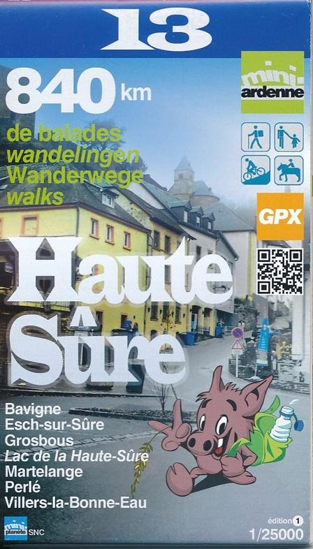 MA-13 Omgeving Haute- Sûre 1:25.000 9782390160137  Mini-Ardenne   Wandelkaarten Wallonië (Ardennen)