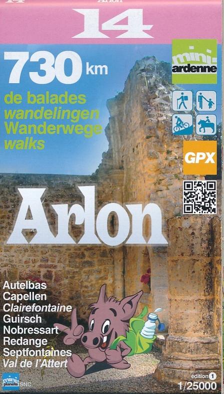 MA-14 Omgeving Ardon 1:25.000 9782390160144  Mini-Ardenne   Wandelkaarten Wallonië (Ardennen)