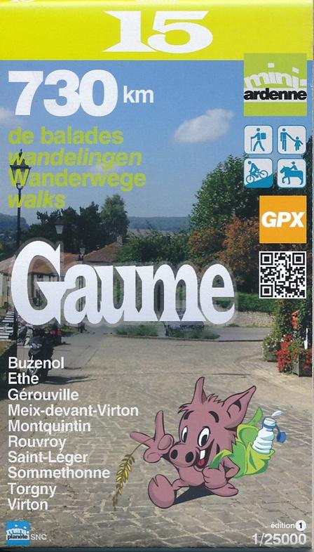 MA-15 Omgeving Gaume 1:25.000 9782390160151  Mini-Ardenne   Wandelkaarten Wallonië (Ardennen)