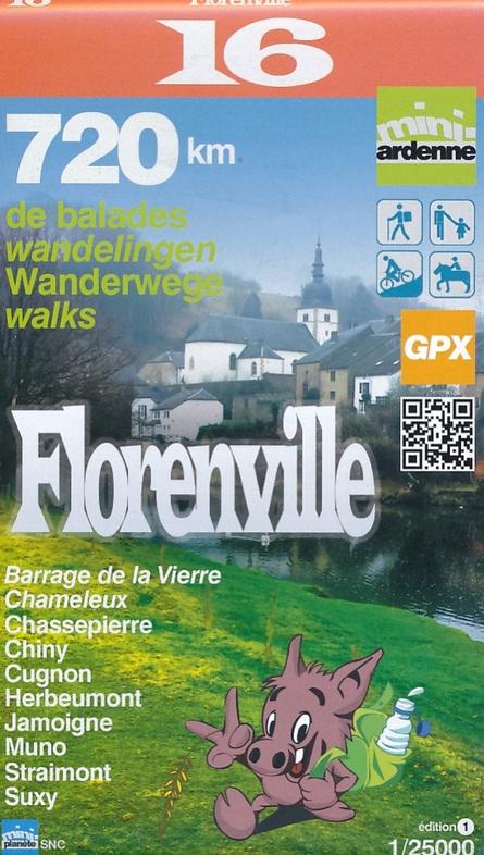 MA-16 Omgeving Florenville 1:25.000 9782390160168  Mini-Ardenne   Wandelkaarten Wallonië (Ardennen)