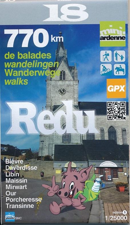 MA-18 Omgeving Redu 1:25.000 9782390160182  Mini-Ardenne   Wandelkaarten Wallonië (Ardennen)