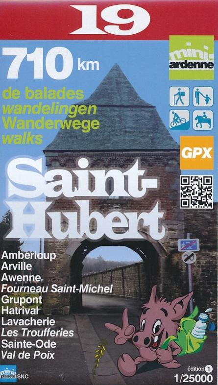 MA-19 Omgeving Saint-Hubert 1:25.000 9782390160199  Mini-Ardenne   Wandelkaarten Wallonië (Ardennen)