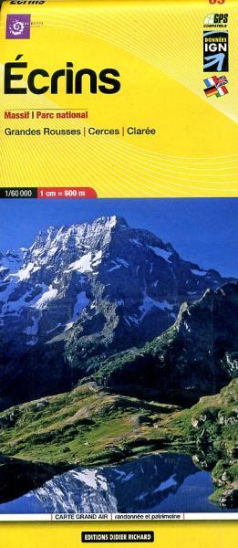 LB-05   Écrins, Parc National | wandelkaart 1:60.000 9782723476690  Libris Éditions Didier Richard  Wandelkaarten Franse Alpen: zuid