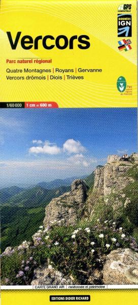 LB-10  Vercors | wandelkaart 1:60.000 9782723476737  Libris Éditions Didier Richard  Wandelkaarten Ardèche, Drôme, Franse Alpen: noord