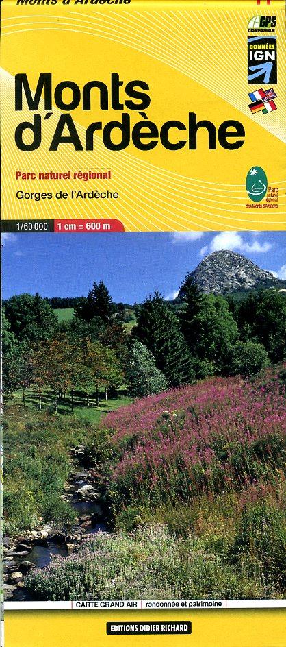 LB-11  Ardèche | wandelkaart 1:60.000 9782723476744  Libris Carte de Randonnée  Wandelkaarten Ardèche, Drôme