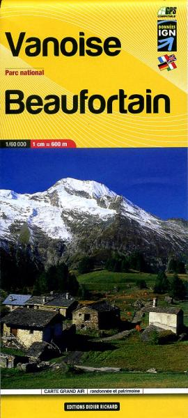 LB-04  Vanoise, Parc National | wandelkaart 1:60.000 9782723484961  Libris Éditions Didier Richard  Wandelkaarten Franse Alpen: noord