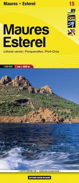LB-15  Maures, Esterel  | wandelkaart 1:60.000 9782723491686  Libris Wandelkaarten Provence  Wandelkaarten Provence, Marseille, Camargue