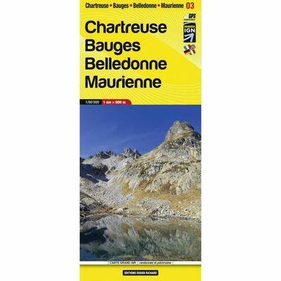LB-03   Chartreuse, Bauges | wandelkaart 1:60.000 9782723495394  Libris Éditions Didier Richard  Wandelkaarten Franse Alpen: noord