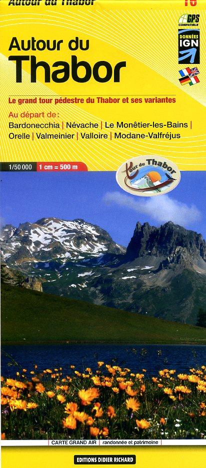 LB-16  Wandelkaart Autour du Thabor  | wandelkaart 1:50 000 9782723496926  Libris Éditions Didier Richard  Wandelkaarten Franse Alpen: zuid