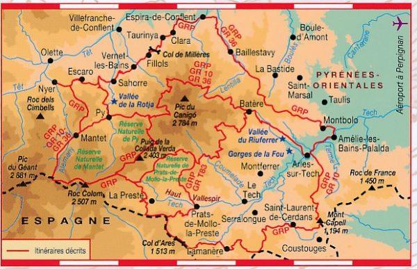 TG-6600  Tours et Ronde du Canigó 9782751407611  FFRP topoguides à grande randonnée  Meerdaagse wandelroutes, Wandelgidsen Franse Pyreneeën