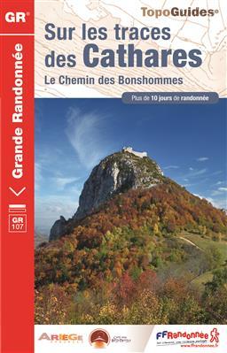TG-1097  Sur les Traces des Cathares  | wandelgids GR-107 9782751408168  FFRP Topoguides  Meerdaagse wandelroutes, Wandelgidsen Pyreneeën en Baskenland