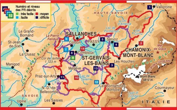 TG-044  Tour du pays du Mont Blanc   wandelgids 9782751408489  FFRP topoguides à grande randonnée  Meerdaagse wandelroutes, Wandelgidsen Franse Alpen: noord