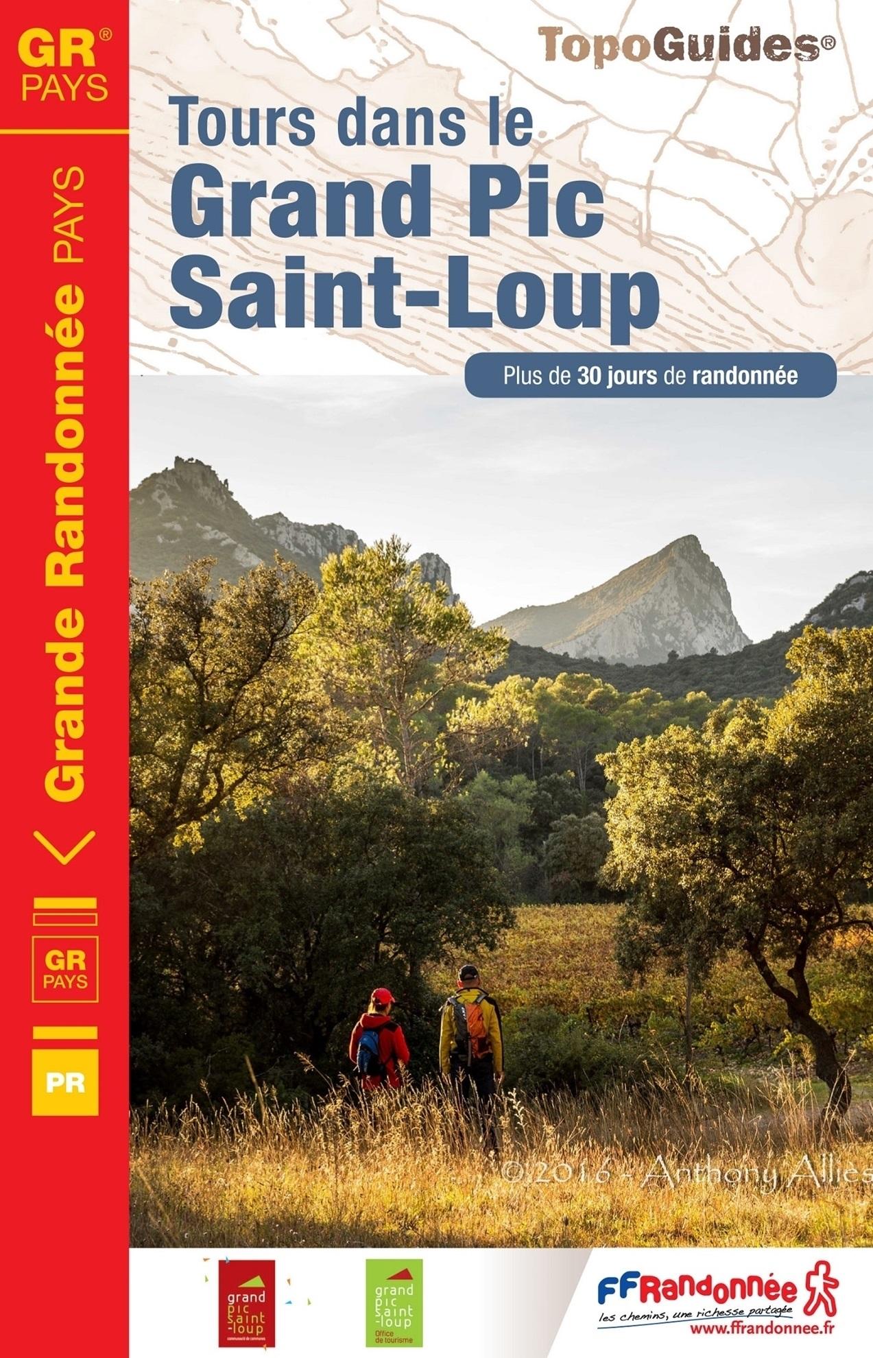 TG-3401 Grand Pic Saint-Loup  | wandelgids GR3401 9782751408830  FFRP topoguides à grande randonnée  Meerdaagse wandelroutes, Wandelgidsen Cevennen, Languedoc