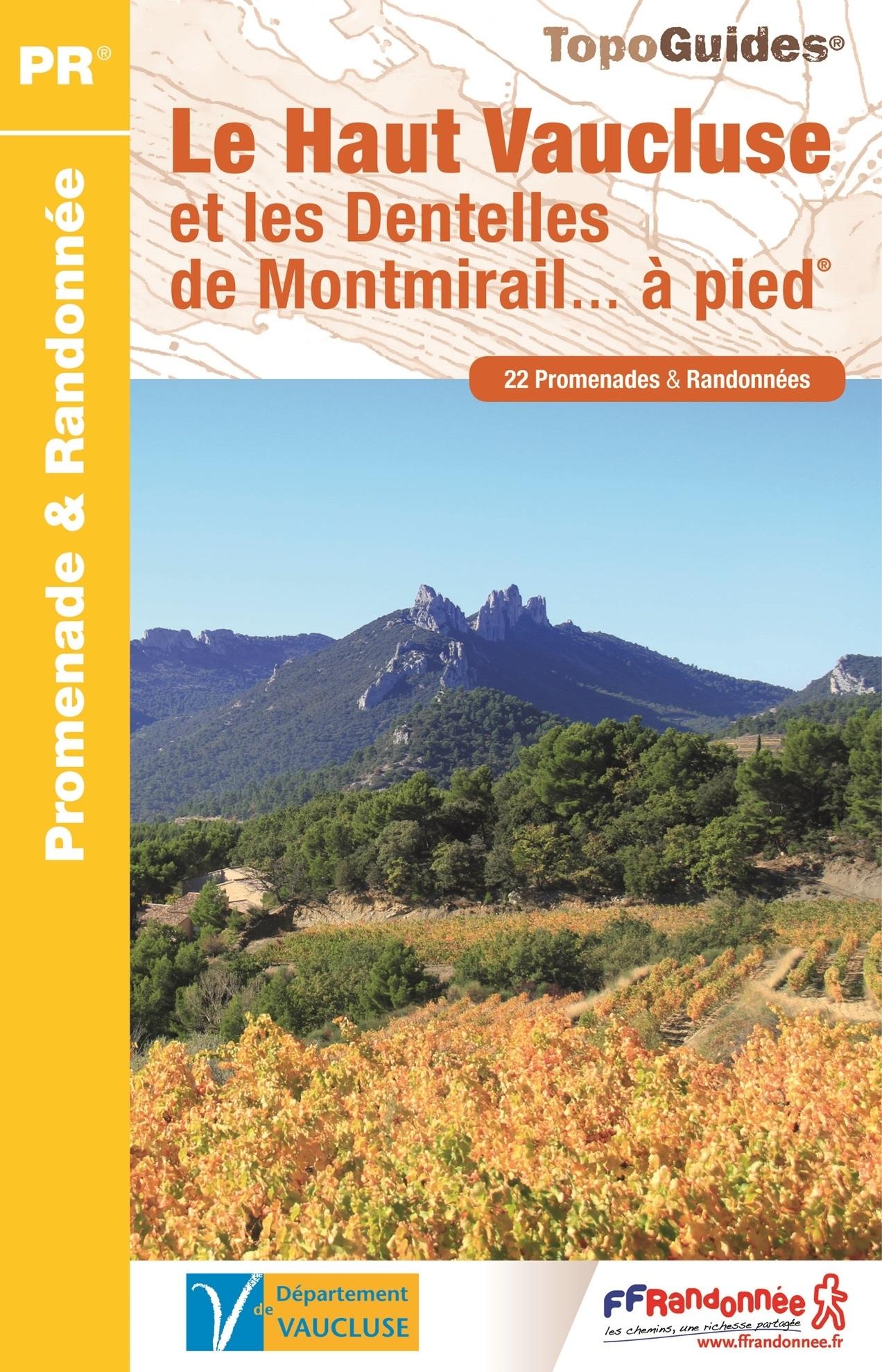 P843 Haut Vaucluse et les Dentelles de Montmirail | wandelgids 9782751408854  FFRP Topoguides  Wandelgidsen Provence, Marseille, Camargue