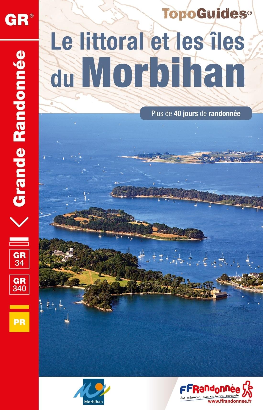 TG-561 Morbihan, Littoral et Îles | wandelgids GR-34 9782751409677  FFRP topoguides à grande randonnée  Meerdaagse wandelroutes, Wandelgidsen Bretagne