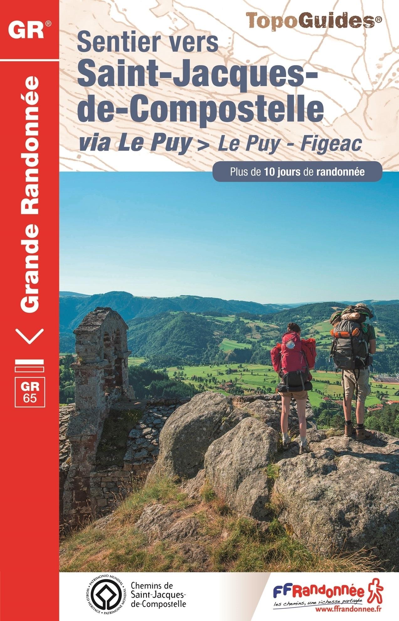 TG651  Sentier de Saint-Jacques I wandelgids GR-65 9782751409738  FFRP Topoguides  Santiago de Compostela, Wandelgidsen Frankrijk