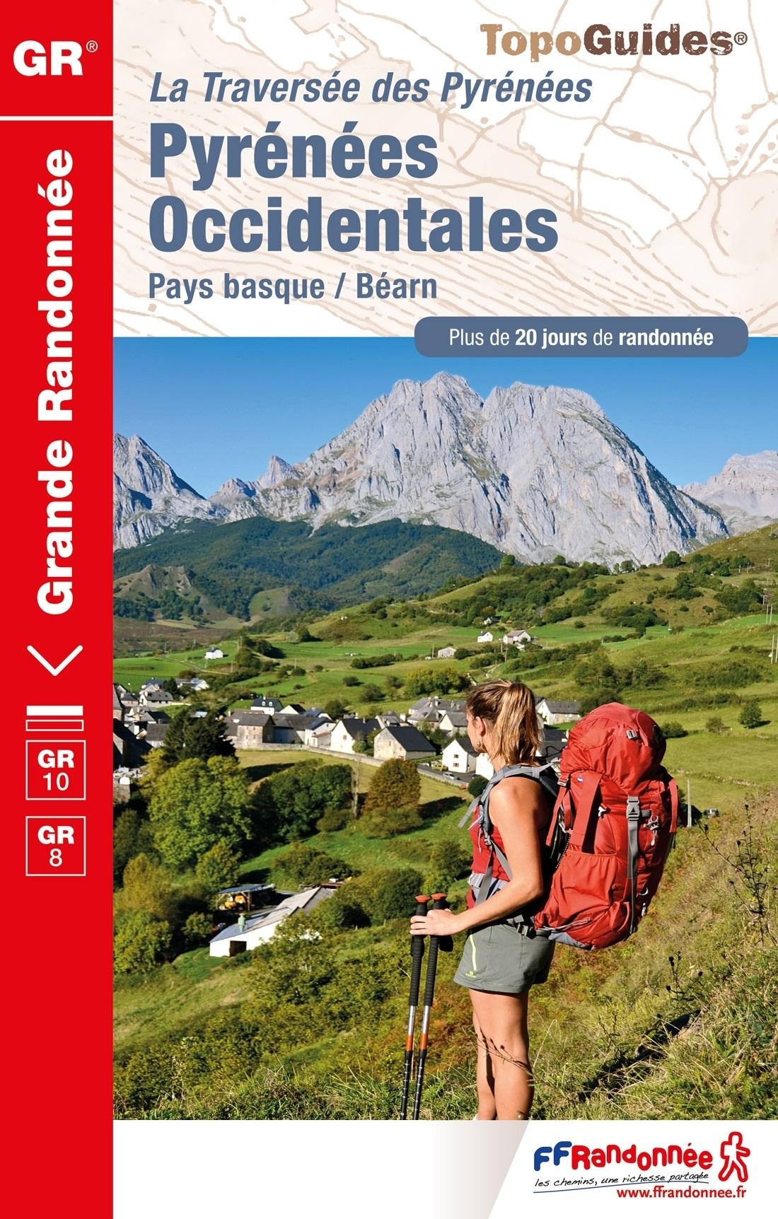 TG1086 Pyrénées Occidentales | wandelgids GR-10 9782751409844  FFRP Topoguides  Meerdaagse wandelroutes, Wandelgidsen Baskenland, Franse Pyreneeën