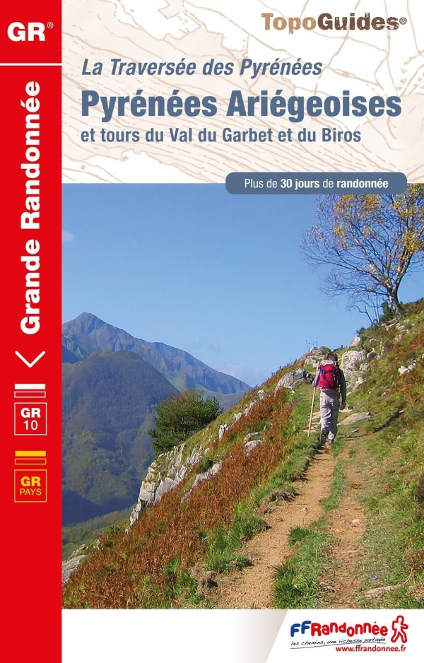 TG-1090  Traversée des Pyrénées Ariégeoises | wandelgids GR-10 9782751409851  FFRP topoguides à grande randonnée  Meerdaagse wandelroutes, Wandelgidsen Franse Pyreneeën