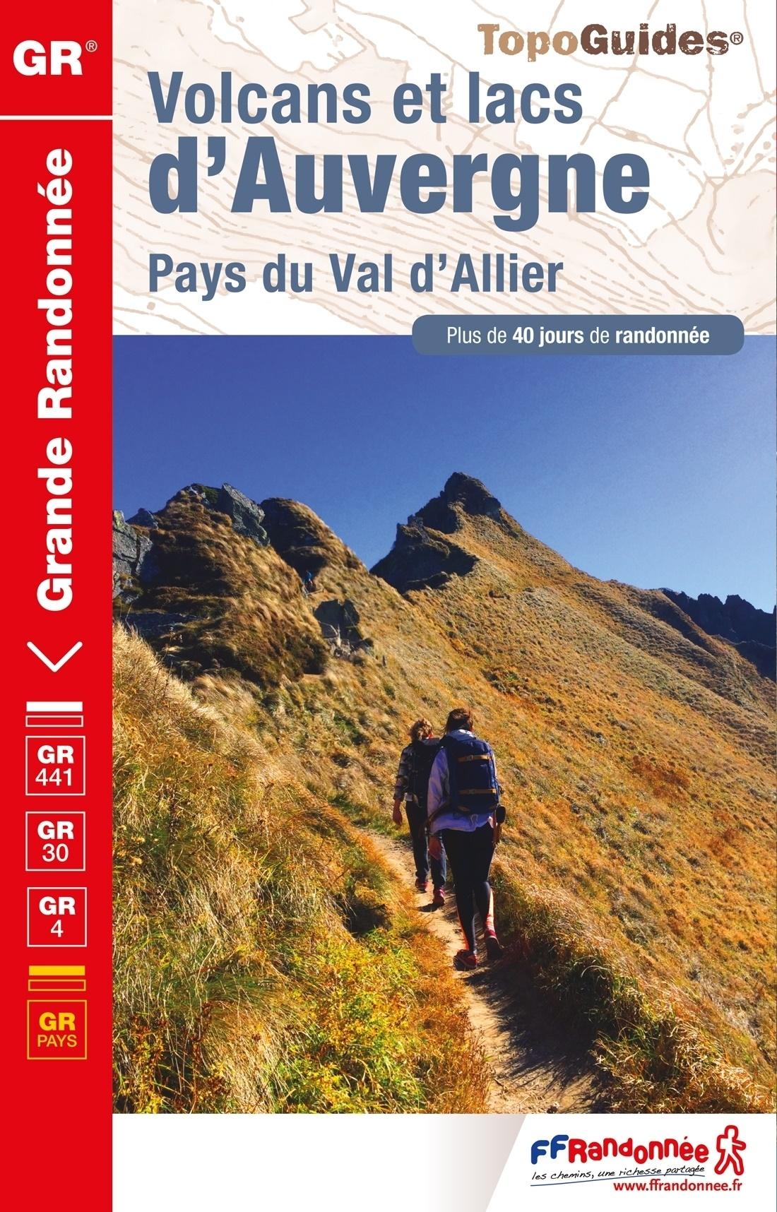 TG-304  Volcans et Lacs   | wandelgids GR-441/GR-30 9782751410109  FFRP topoguides à grande randonnée  Meerdaagse wandelroutes, Wandelgidsen Auvergne