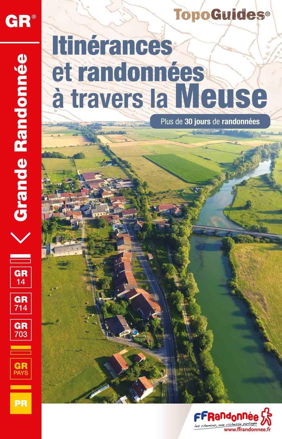 TG5500 Itinérances et randonnées à travers la Meuse | wandelgids 9782751410161  FFRP Topoguides  Meerdaagse wandelroutes, Wandelgidsen Champagne, Franse Ardennen