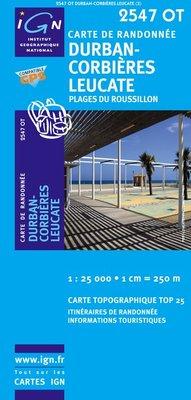 2547OT Durban Corbières | wandelkaart 1:25.000 9782758501459  IGN TOP 25  Wandelkaarten, Wijnreisgidsen Cevennen, Languedoc