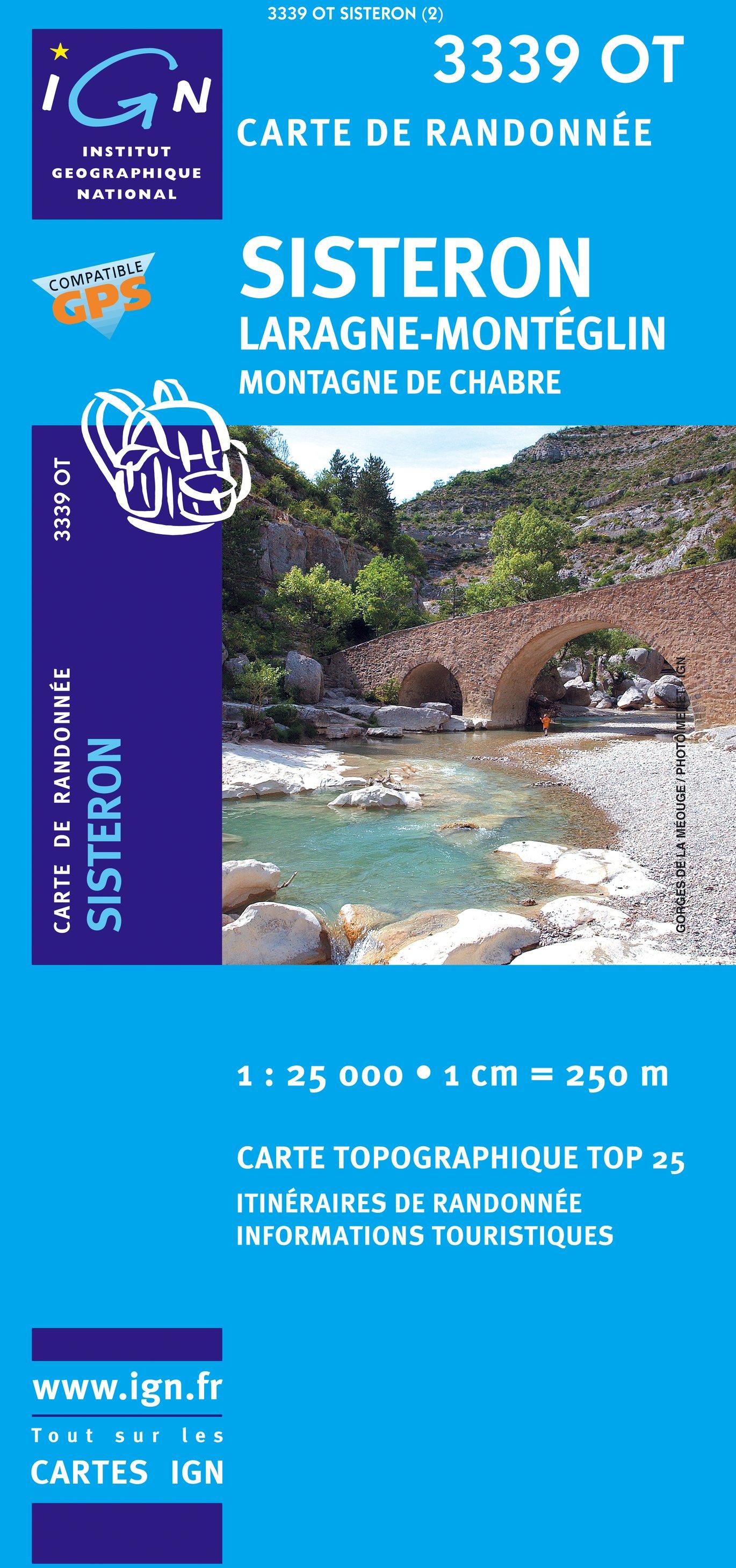 3339OT  Sisteron, Laragne-Monteglin | wandelkaart 1:25.000 9782758501473  IGN TOP 25  Wandelkaarten Franse Alpen: zuid
