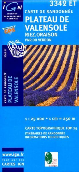 3342ET   Plateau de Valensole | wandelkaart 1:25.000 9782758501787  IGN TOP 25  Wandelkaarten Franse Alpen: zuid