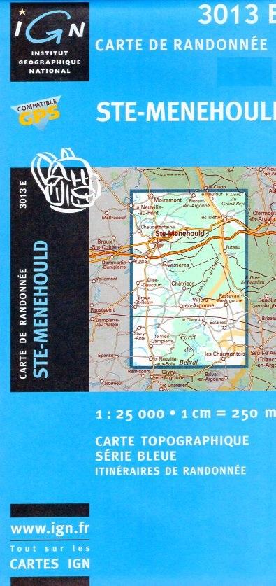 3013E Sainte-Menehould | wandelkaart 1:25.000 9782758502852  IGN TOP 25  Wandelkaarten Champagne, Franse Ardennen