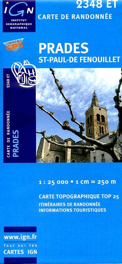 2348ET  Prades, Sournia | wandelkaart 1:25.000 9782758503231  IGN TOP 25  Wandelkaarten Franse Pyreneeën