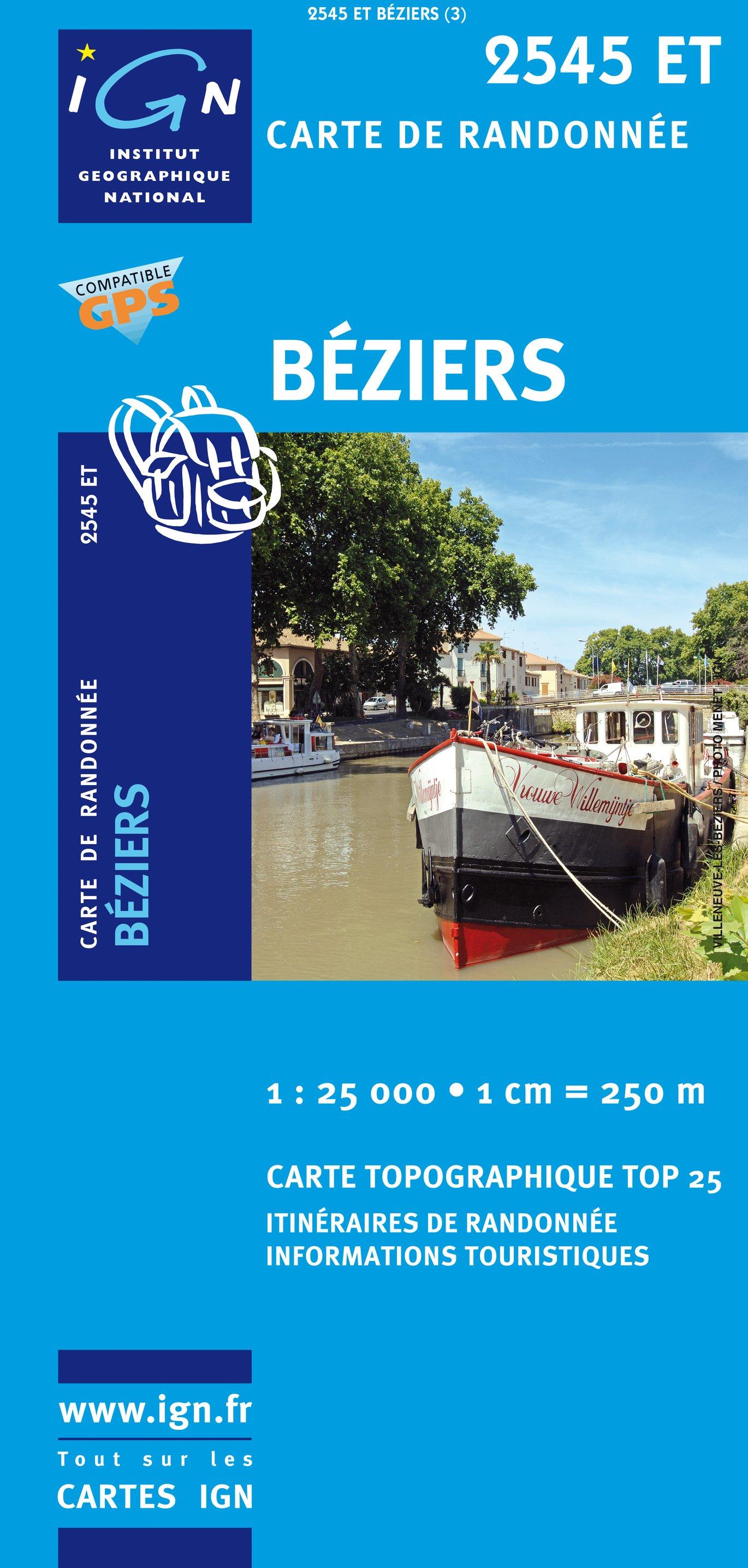 2545ET   Béziers | wandelkaart 1:25.000 9782758504788  IGN IGN 25 Cevennen & Languedoc  Wandelkaarten Cevennen, Languedoc