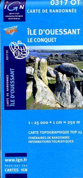 0317OT   Île d'Ouessant | wandelkaart 1:25.000 9782758505211  IGN IGN 25 Bretagne  Wandelkaarten Bretagne
