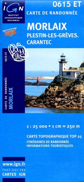 0615ET  Morlaix, Lanmeur, Plougasnou | wandelkaart 1:25.000 9782758506690  IGN IGN 25 Bretagne  Wandelkaarten Bretagne