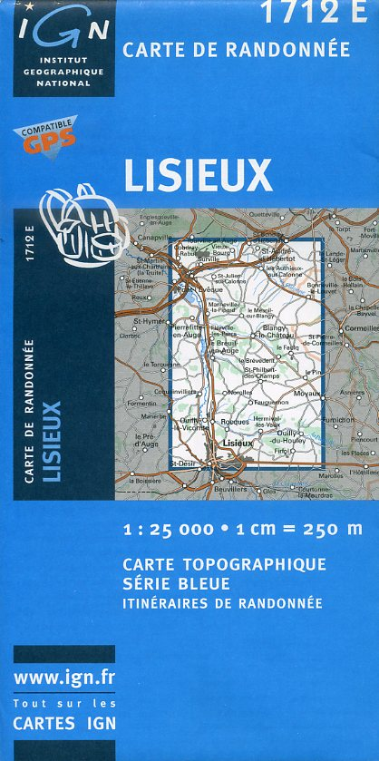 1712 Est Lisieux 9782758506744  IGN Serie Bleue 1:25.000  Wandelkaarten Normandië