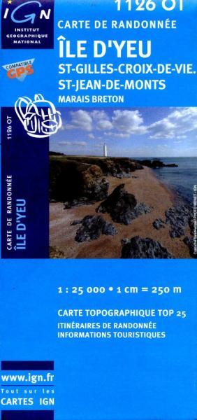 1126OT St-Jeans-d-Monts, Marais Breton | wandelkaart 1:25.000 9782758509967  IGN IGN 25 Charente, Vendée  Wandelkaarten Vendée, Charente