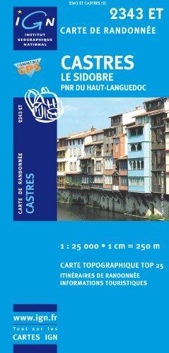 2343ET   Castres, Le Sidobre | wandelkaart 1:25.000 9782758510208  IGN TOP 25  Wandelkaarten Cevennen, Languedoc