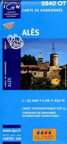 2840OT   Alès, La-Grand-Combe   wandelkaart 1:25.000 9782758510291  IGN IGN 25 Cevennen & Languedoc  Wandelkaarten Cevennen, Languedoc