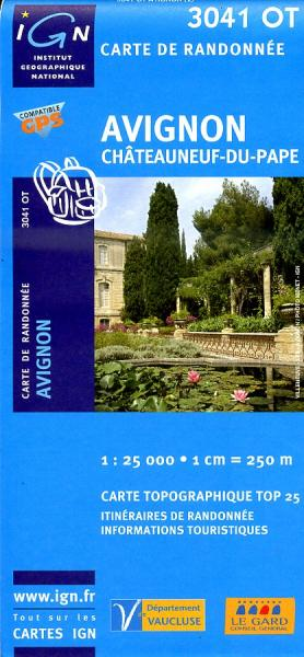 3041OT  Avignon, Châteauneuf-du-Pape | wandelkaart 1:25.000 9782758510345  IGN IGN 25 Provence  Wandelkaarten, Wijnreisgidsen Provence, Marseille, Camargue