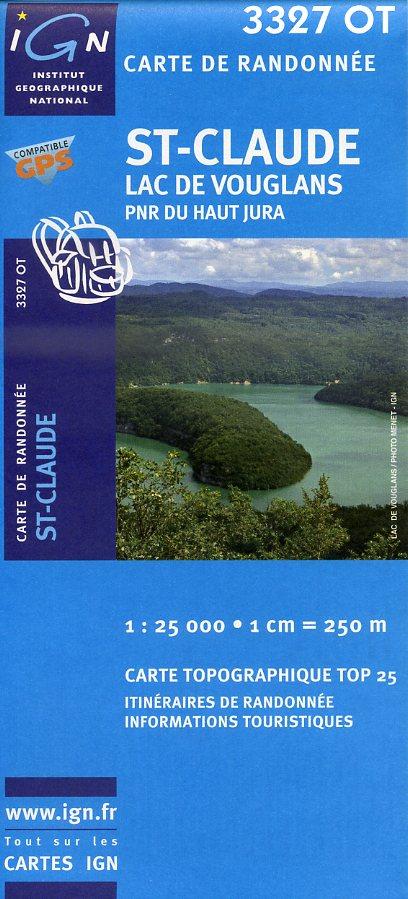 3327OT  St.Claude, Lac de Vouglans | wandelkaart 1:25.000 9782758510482  IGN TOP 25  Wandelkaarten Franse Jura