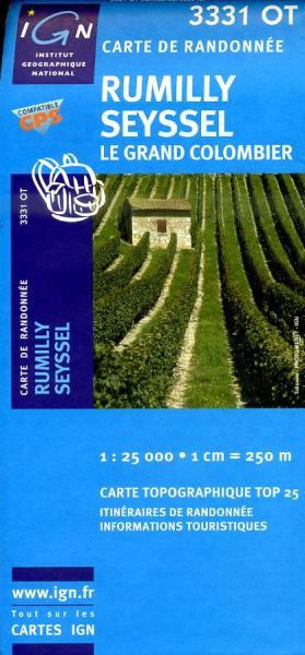 3331OT  Rumilly, Grand Colombier | wandelkaart 1:25.000 9782758510505  IGN IGN 25 Franse Alpen/ Nrd.helft  Wandelkaarten Franse Alpen: noord