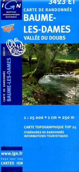 3423ET  Baume-les-Dames | wandelkaart 1:25.000 9782758510529  IGN TOP 25  Wandelkaarten Franse Jura