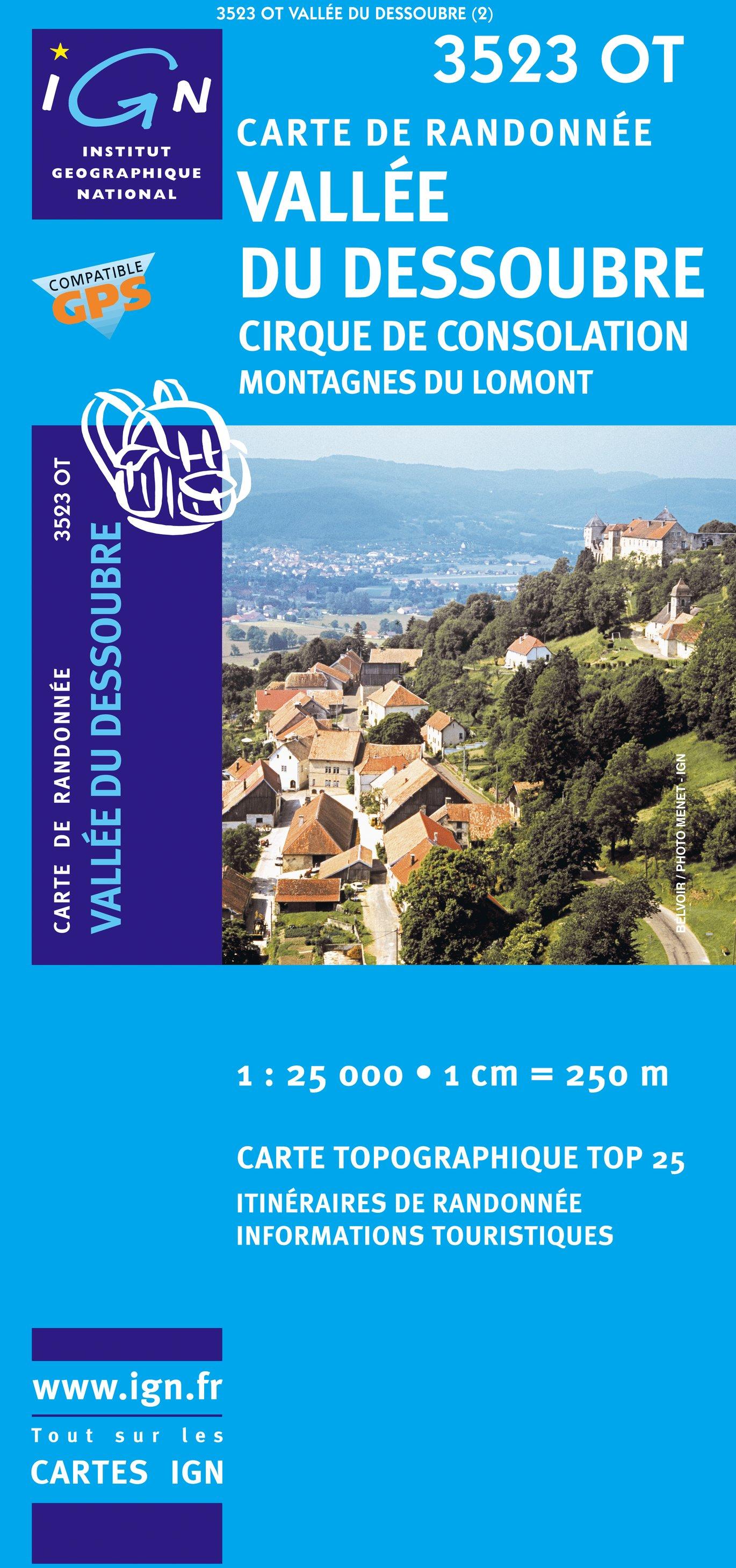 3523OT  Pierrefontaine-les-Varans | wandelkaart 1:25.000 9782758510604  IGN TOP 25  Wandelkaarten Franse Jura