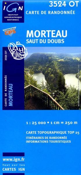 3524OT  Morteau, Gorges du Doubs | wandelkaart 1:25.000 9782758510611  IGN TOP 25  Wandelkaarten Franse Jura