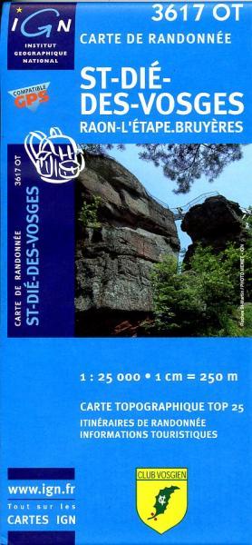 3617OT  St-Dié   wandelkaart 1:25.000 9782758510673  IGN TOP 25  Wandelkaarten Vogezen