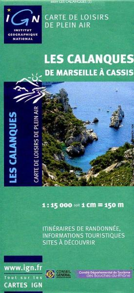 Les Calanques 1:15.000 9782758511564  IGN IGN Spéciales  Wandelkaarten Provence, Marseille, Camargue