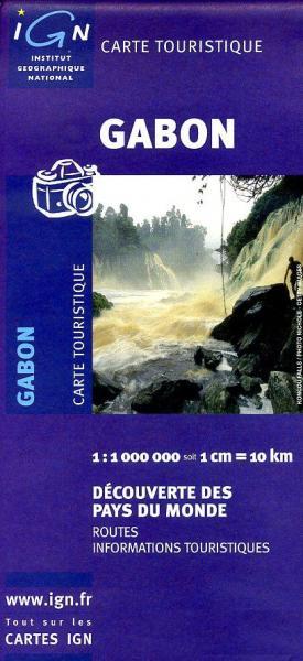 Gabon 1:1.000.000 9782758512387  IGN   Landkaarten en wegenkaarten Centraal-Afrika: Kameroen, Centraal-Afrikaanse Republiek, Equatoriaal Guinee, Gabon, Congo