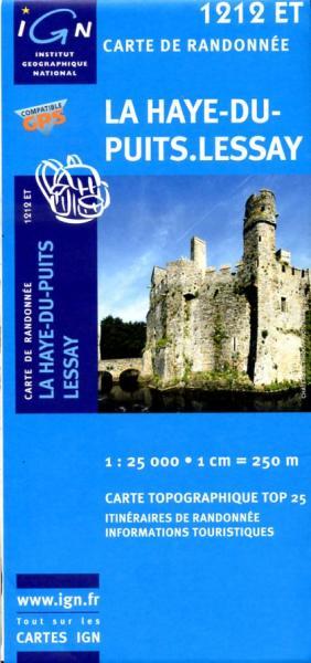 1212ET Lessay, La Haye-du-Puits | wandelkaart 1:25.000 9782758513018  IGN IGN 25 Normandië  Wandelkaarten Normandië
