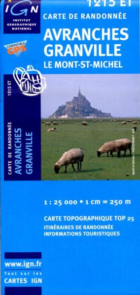 1215ET   Avranches, Granville | wandelkaart 1:25.000 9782758513032  IGN IGN 25 Normandië  Wandelkaarten Normandië