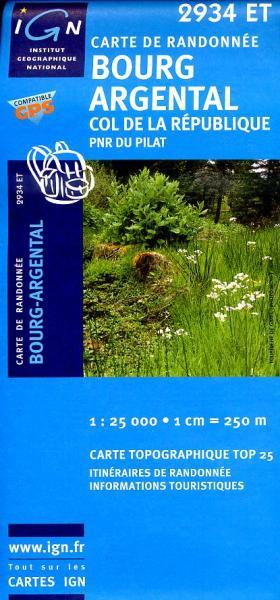 2934ET  Parc du Pilat, Annonay | wandelkaart 1:25.000 9782758513902  IGN TOP 25  Wandelkaarten Lyon en omgeving